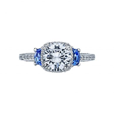 Tacori 2628RDSP Dantela Platinum Round Engagement Ring