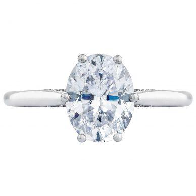 2650OV9X7 Simply Tacori Platinum Oval Engagement Ring