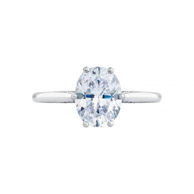 Tacori 2650OV9X7 Simply Tacori Platinum Oval Engagement Ring