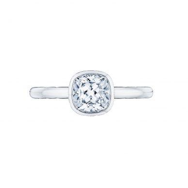 Tacori 300-2CU Starlit White Gold Cushion Cut Engagement Ring