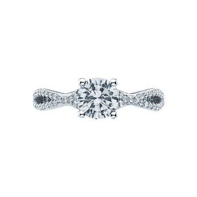 Tacori 3004-W Ribbon White Gold Round Engagement Ring