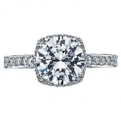 2620RDLGP Dantela Platinum Round Engagement Ring