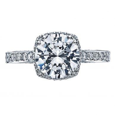 Tacori 2620RDLGP Dantela Platinum Round Engagement Ring