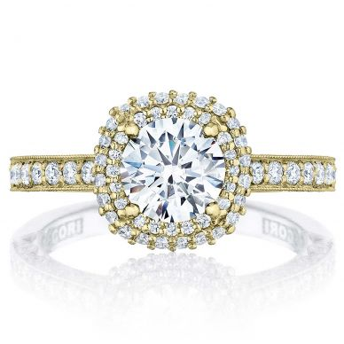 HT2522CU-5Y Blooming Beauties Yellow Gold Round Engagement Ring
