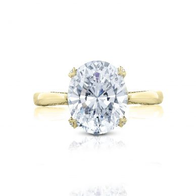 Tacori HT2625OV11X9-Y RoyalT Yellow Gold Oval Engagement Ring
