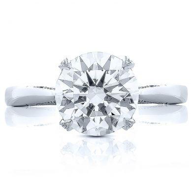 HT2625RD10 RoyalT Platinum Round Engagement Ring