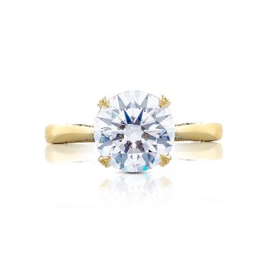 Tacori HT2625RD9Y RoyalT Yellow Gold Round Engagement Ring