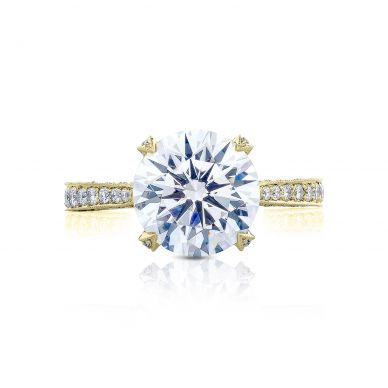 Tacori HT2626RD10-Y RoyalT Yellow Gold Round Engagement Ring