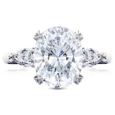 HT2628OV11X9 RoyalT Platinum Oval Engagement Ring