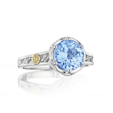 SR19802 Sonoma Skies Silver Sky Blue Topaz Unique Ring for Women