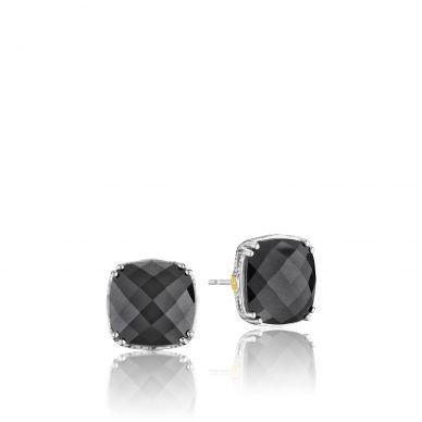 SE12932 Classic Rock Silver Hematite Stud Earrings for Women