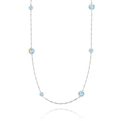 SN20302 Sonoma Skies Silver Sky Blue Topaz Long Necklace for Women