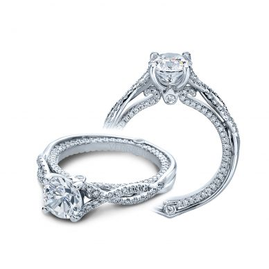 Verragio Couture 0421DR White Gold Round Engagement Ring