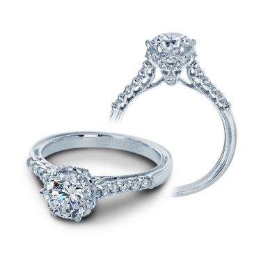 Verragio Renaissance 911RD7 White Gold Round Engagement Ring
