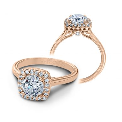 Verragio Renaissance 924CU7-R Rose Gold Round Engagement Ring