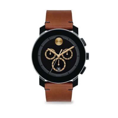Movado BOLD 3600540 Mens Leather Watch