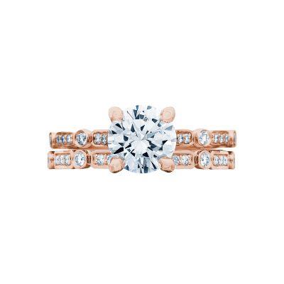 Tacori 202-2RD55PK Rose Gold Round Rose Gold Engagement Ring set