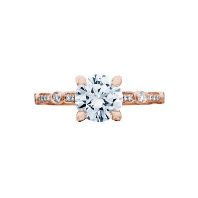 Tacori 202-2RD55PK Sculpted Crescent Rose Gold Round Engagement Ring