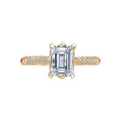 Tacori 2504EMP7X5-Y Simply Tacori Yellow Gold Emerald Cut Engagement Ring