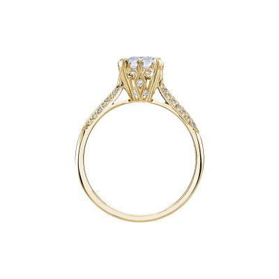 Tacori 2504EMP7X5-Y Yellow Gold Emerald Cut Engagement Ring side