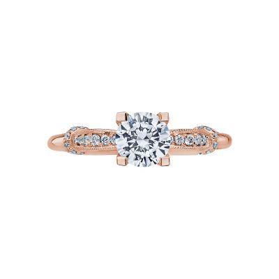 Tacori 2615RD6-PK Simply Tacori Rose Gold Round Engagement Ring
