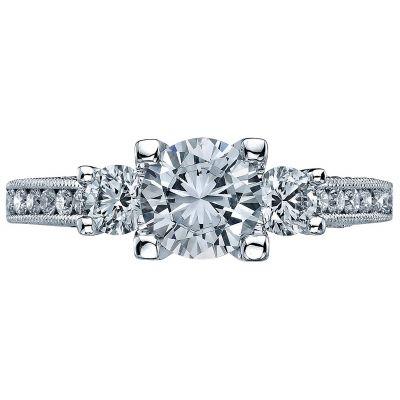 2636RD65 Simply Tacori Platinum Round Engagement Ring