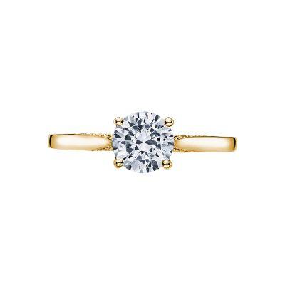 Tacori 2638RD65-Y Dantela Yellow Gold Round Engagement Ring