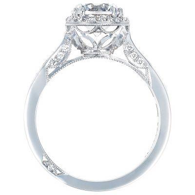 2646-3RDR Dantela White Gold Round Engagement Ring