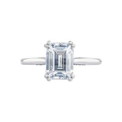 Tacori 2650EC Simply Tacori White Gold Emerald Cut Engagement Ring