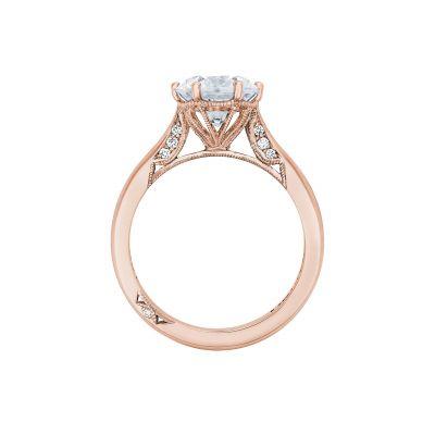 Tacori 2650RD8-PK Rose Gold Round Engagement Ring side