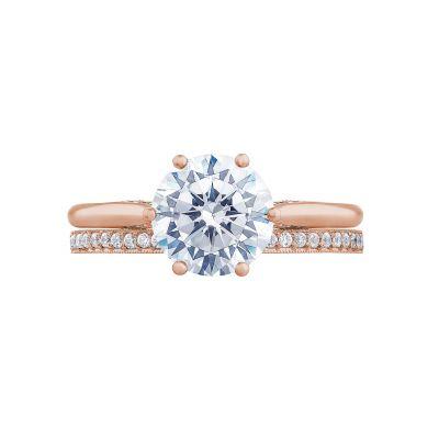 Tacori 2650RD8-PK Rose Gold Round Solitaire Engagement Ring set