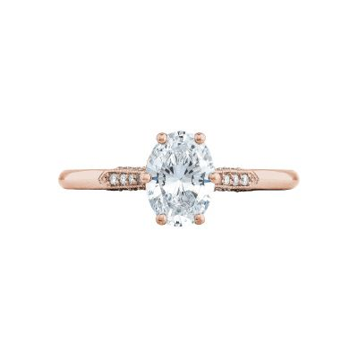 Tacori 2651ov75x55 Pk Simply Tacori Rose Gold Engagement Ring