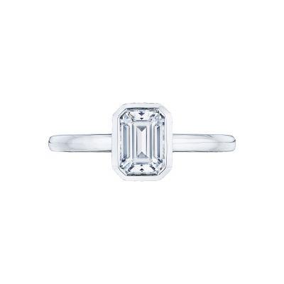 Tacori 300-2EC Starlit White Gold Emerald Cut Engagement Ring