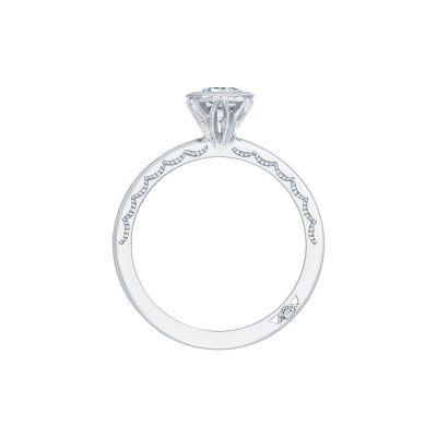 Tacori 300-2EC White Gold Emerald Cut Engagement Ring side