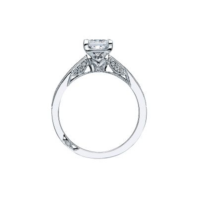 Tacori 3005 Platinum Princess Cut Engagement Ring side
