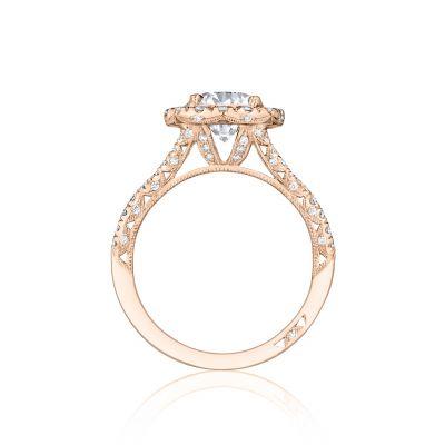 Tacori HT2549CU65PK Rose Gold Round Engagement Ring side