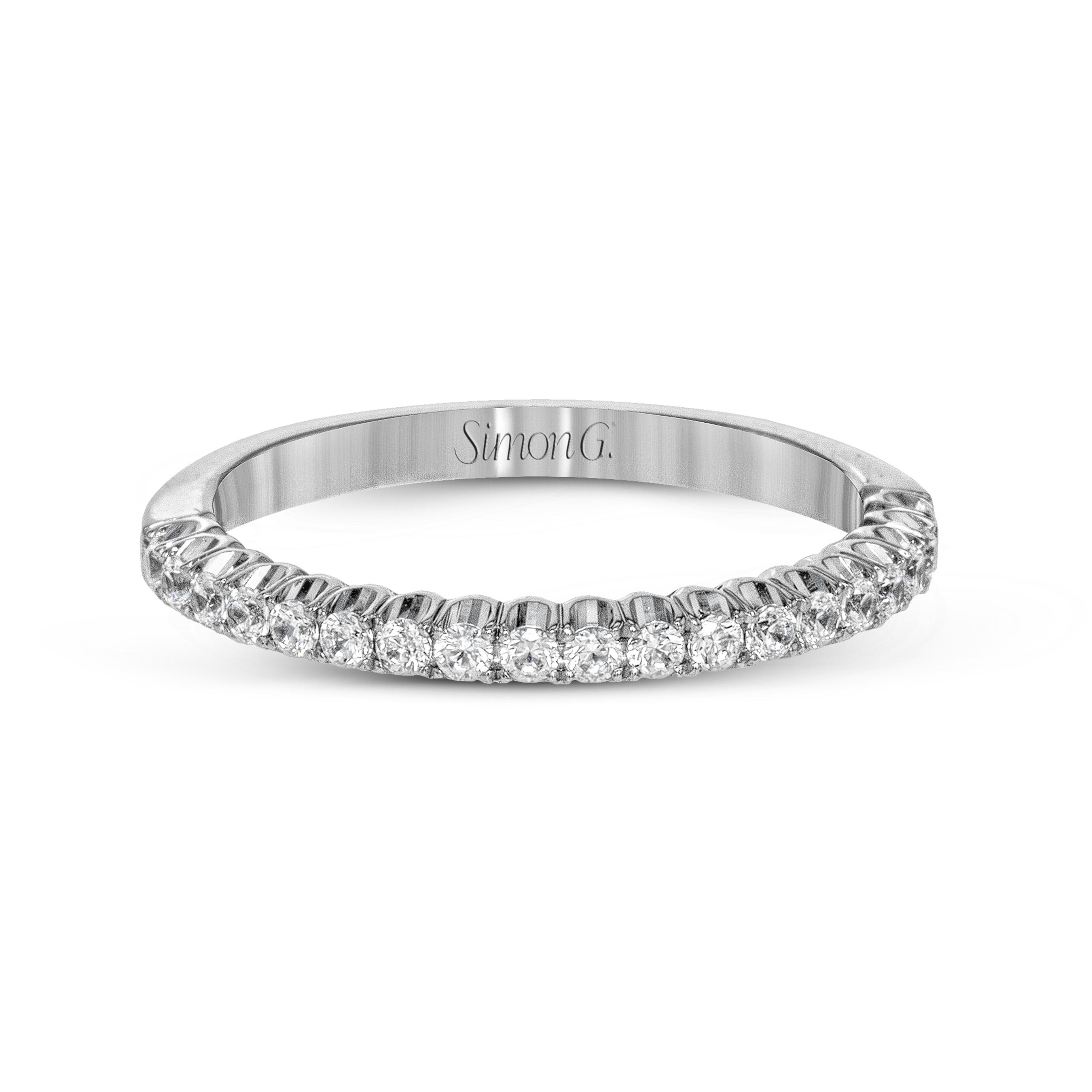 Simon G Lp2345 Passion Collection Women S White Gold Wedding Ring